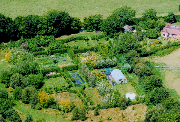 The gardens at Merryweathers - no longer a barren field