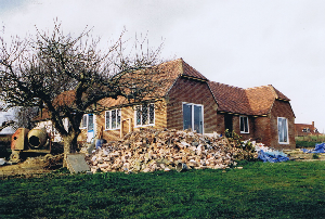 Builders' rubble